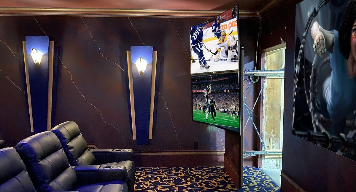 Stunning 5-Screen Home Theater Designed for Sports, Batman Fanatic, slide 0