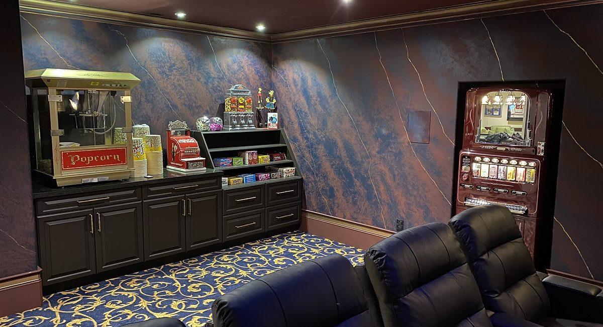 Stunning 5-Screen Home Theater Designed for Sports, Batman Fanatic, slide 3