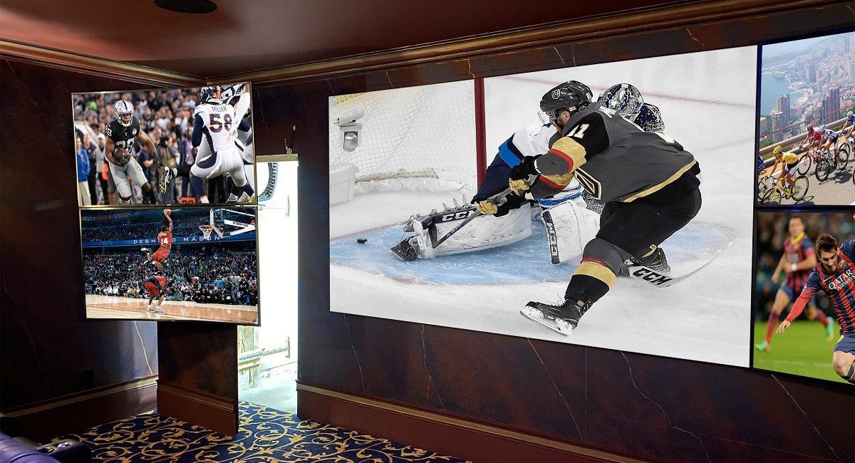 Stunning 5-Screen Home Theater Designed for Sports, Batman Fanatic, slide 1