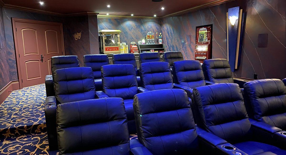 Stunning 5-Screen Home Theater Designed for Sports, Batman Fanatic, slide 5