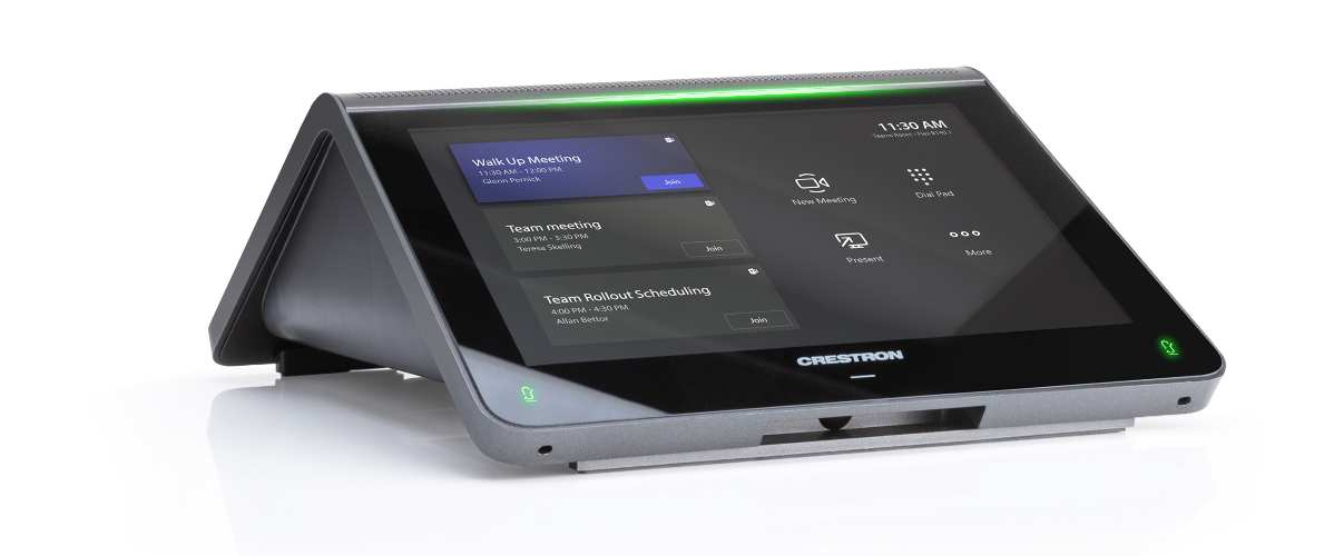 Crestron Flex MM Tabletop Conferencing System Targets Home Office Clients