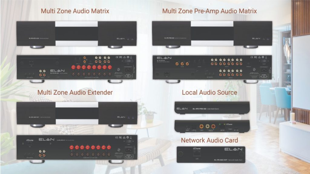 Nortek Security & Control Elan amplifiers IP-audio