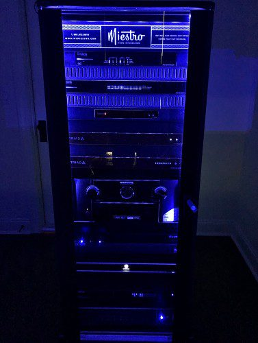 Miestro Home Integration AV equipment rack