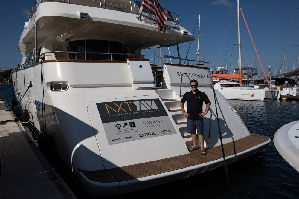 NXT AV smart yacht Savant Sonance Luxul HTA SurgeX