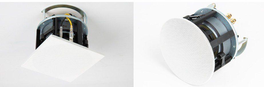 SnapAV Episode Impression Series satellite speakers round square grilles