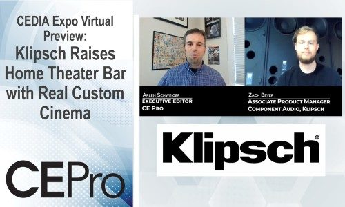 CEDIA Expo Virtual Preview: Klipsch Raises Home Theater Bar with Real Custom Cinema