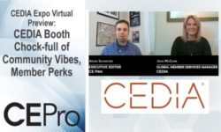 CEDIA Expo Virtual Preview CEDIA booth
