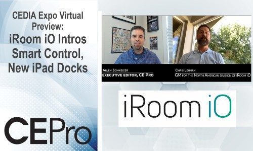 CEDIA Expo Virtual Preview: iRoom iO Intros Smart Control, New iPad Docks