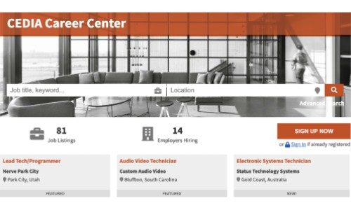 CEDIA Opens Career Center to Help Integrators Find Work