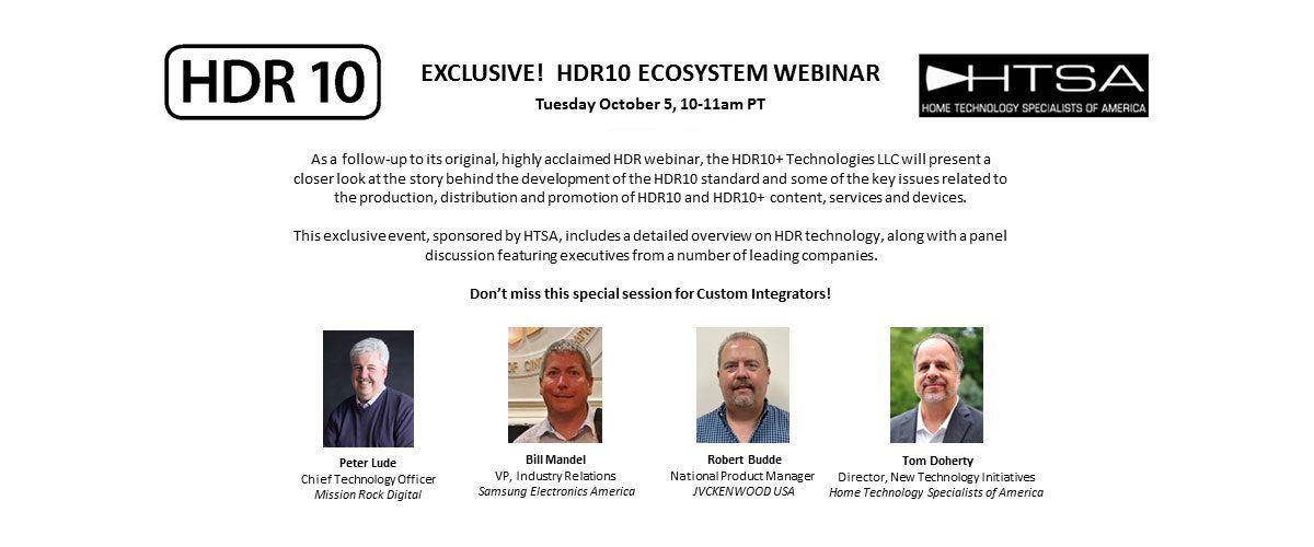 Exclusive! HDR10 Ecosystem Webinar