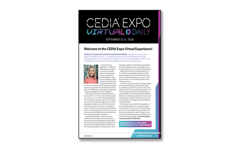 First Look: CEDIA Expo Virtual Daily Preview