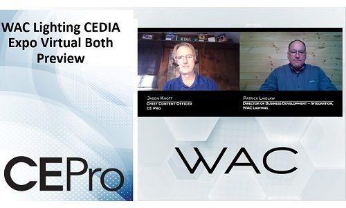 CEDIA Expo Virtual Preview: WAC Lighting Debuts New Integrator-Only Brand