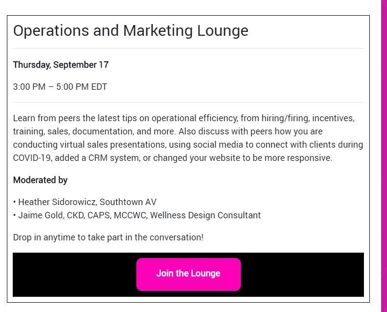 CEDIA Expo Virtual Networking Lounge