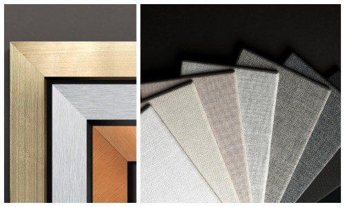 Leon Speakers Designer Grille Fabrics metallic finishes