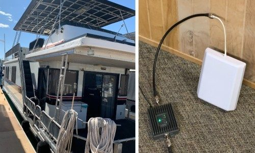 SureCall Cell Signal Booster Makes Houseboat a WFH Retreat