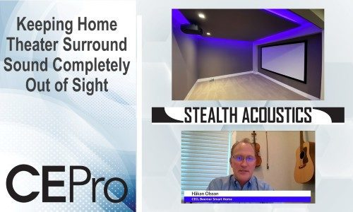 Keeping Home Theater Surround Sound Completely Out of Sight