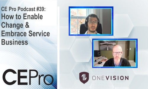 CE Pro Podcast OneVision Resources service business