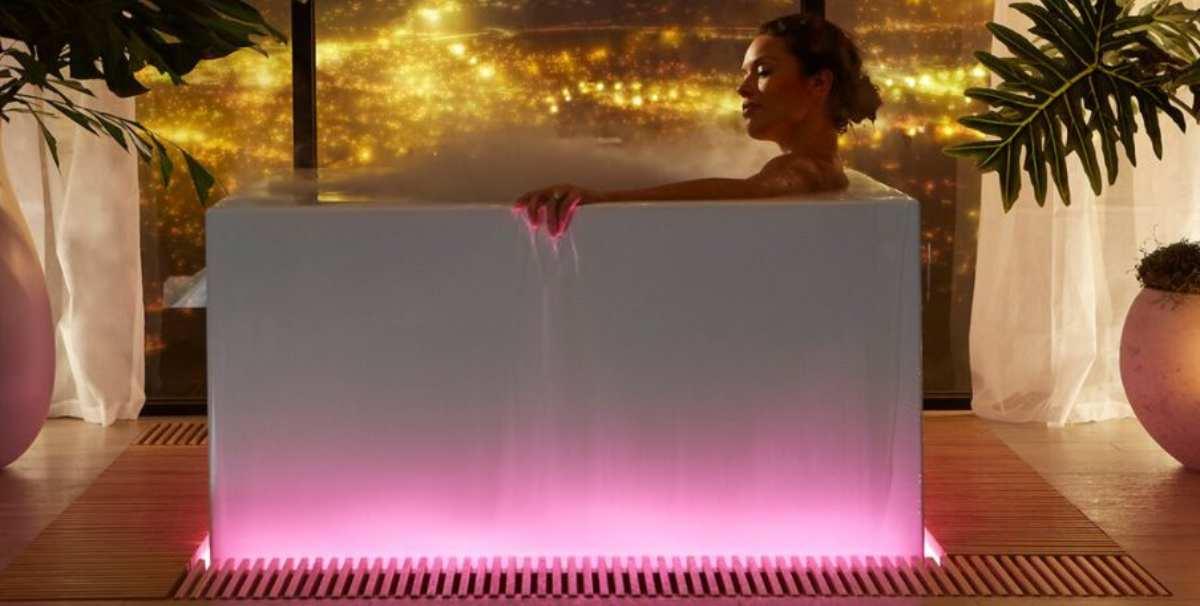 Kohler Debuts $16,000 Smart  Bathtub with Wellness Light, Fog, Aroma Features