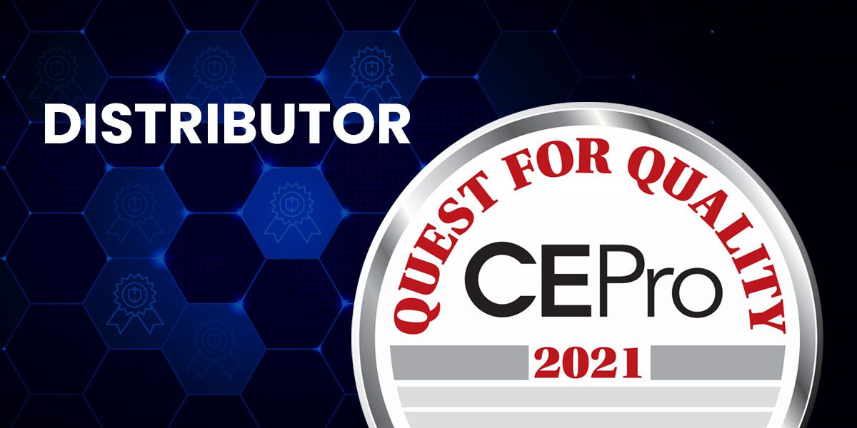 CE Pro Quest for Quality Awards 2021: Distributors