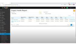 ProjX360 Project Health Report Dashboard