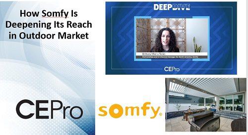 Somfy Motors Integral to Broadening Outdoor Tech Opportunities