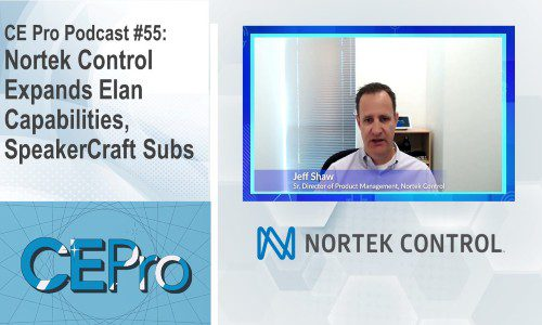 CE Pro Podcast Nortek Control Elan SpeakerCraft