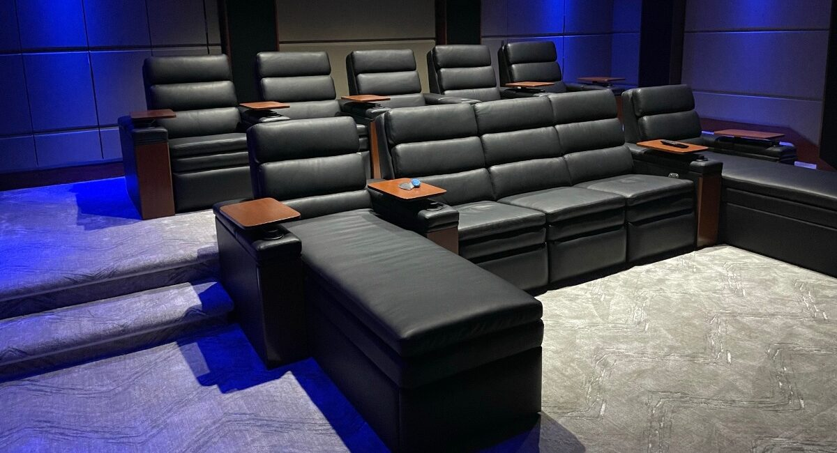 Luxury Home Theater Transforms into Multipurpose Karaoke and Video Conference Room