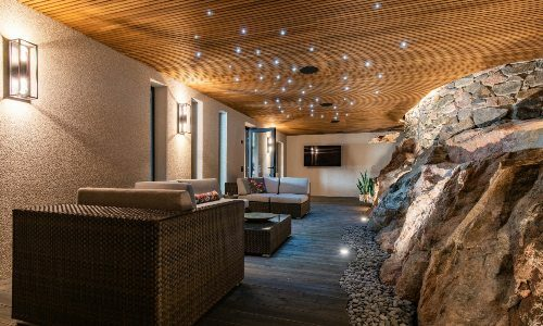 Finnish luxury house with in-home golf simulator, massive artificial skylight and more