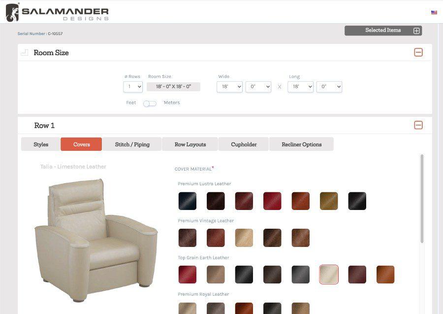 Salamander Designs Seating Configurator