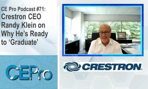 CE Pro Podcast Crestron Randy Klein