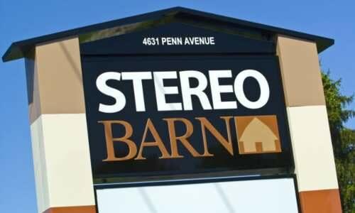 Stereo Barn sign